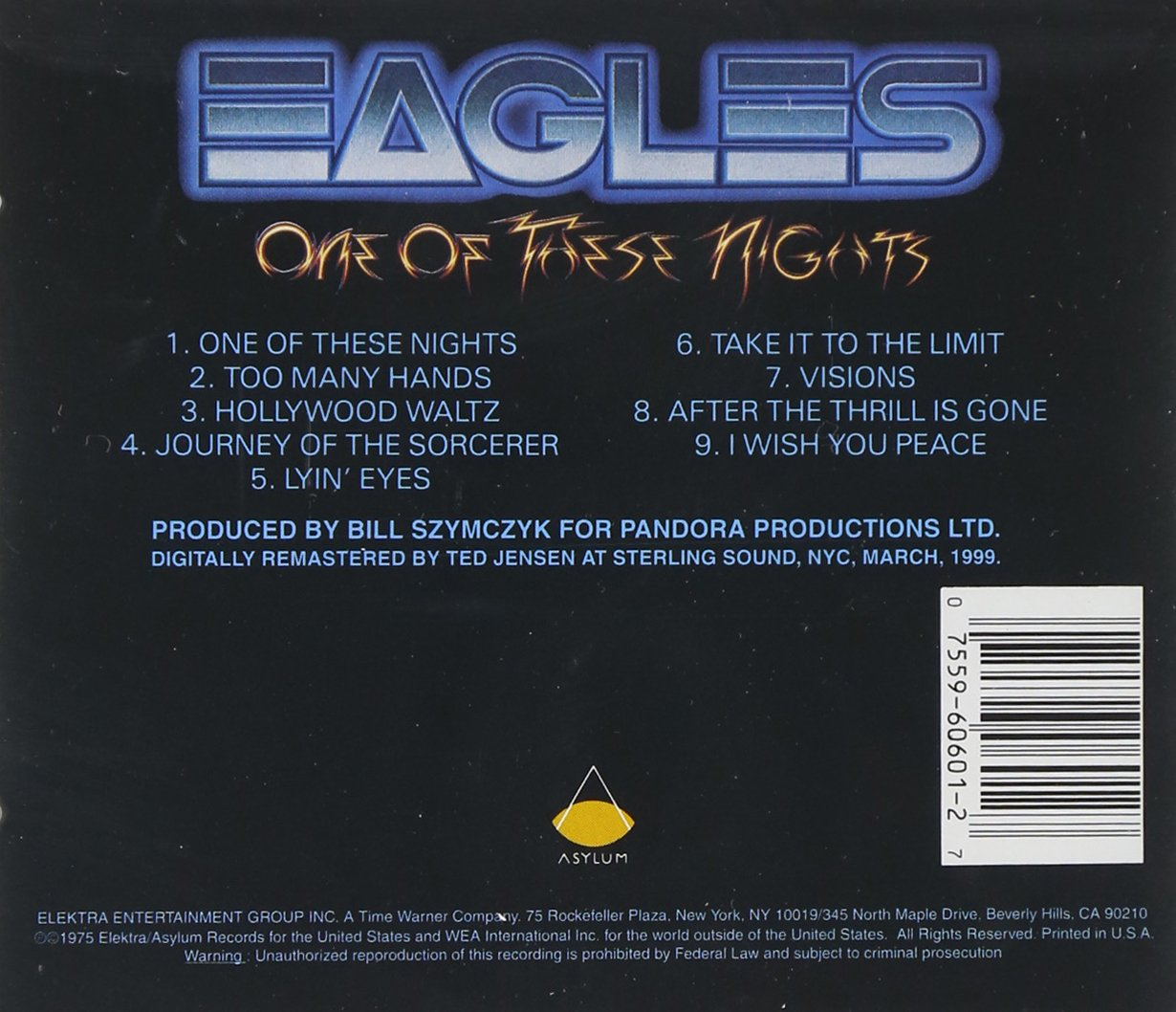 The Eagles - «One of These Nights» (супер-альбом)