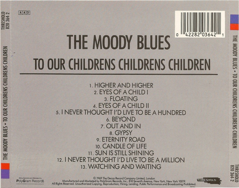The Moody Blues - «To Our Children's Children's Children»